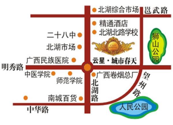 云星·城市春天  交通图