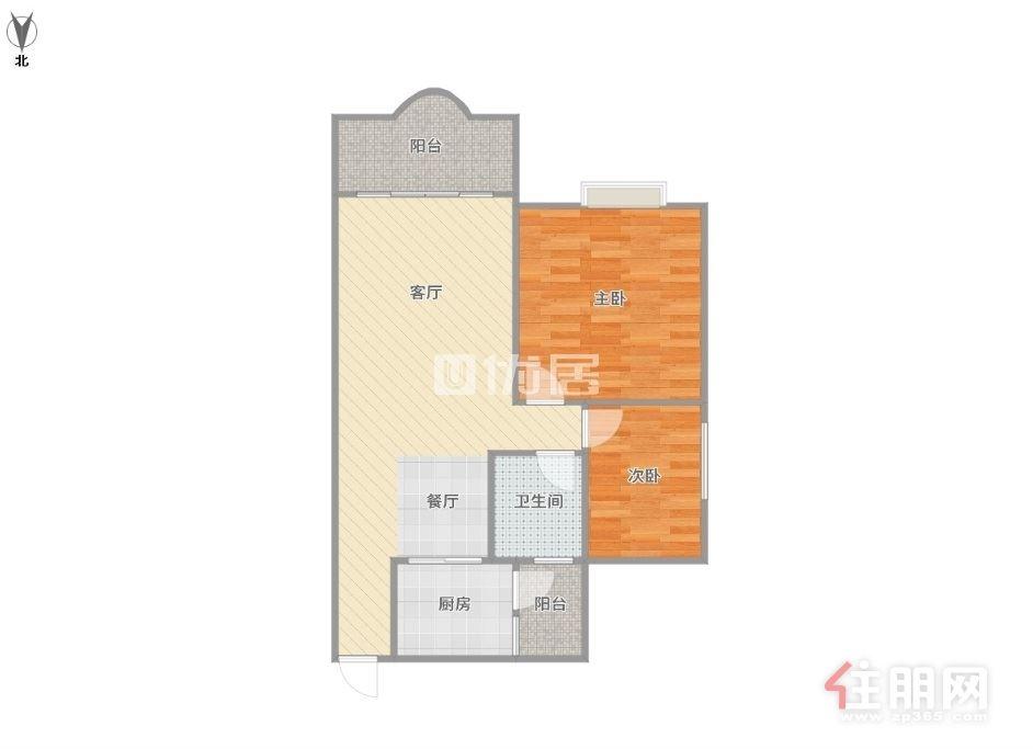金湾花城精装2房户型方正 拎包入住 仅租2200 看中即签