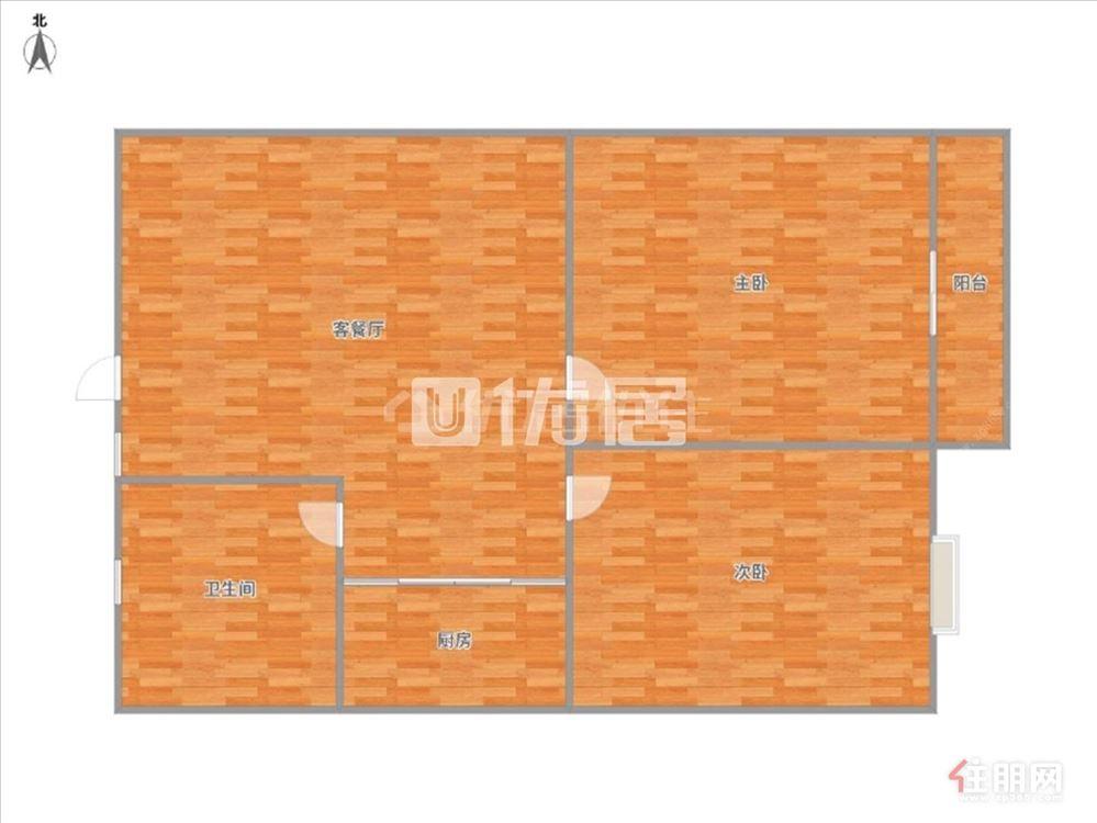 上海滩公馆温馨2房仅租2000 真.实房源价格 1号线地铁口