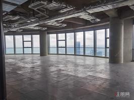 业主直租总部基地写字楼楼下临街餐饮铺,起租价50元/平