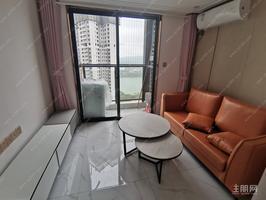 江景,全新配置,天誉城复式公寓1房1厅,拎包入住,地铁口