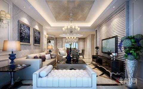 青秀区,航洋国际城  1室1厅1卫 中装,首付分期8万月供1700,阔绰客厅,超大阳台,价格堪比毛坯房