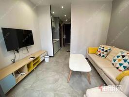 天誉城loft公寓一房一厅 配齐出租1600 独立阳台通地铁