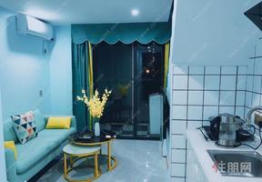天誉城 复式一房 1500 4号线地铁口 可直达总部基地  时尚装修风格