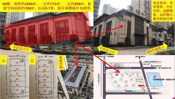 綠地國際花都售樓部+整棟出售+約1630平+地鐵2/3號線 300米+合適做美容整形醫院