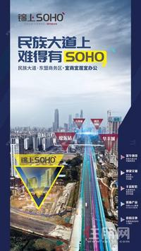 民族大道上少有SOHO+东盟商务区宜商宜居宜办公+低投资高回报+双地铁口物业+美食天地