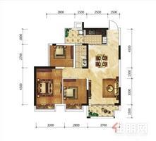 五象新区 天誉花园小区 85平米毛坯三房 有证高层 朝南 急售