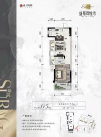 盛邦双悦湾!极致70年产权小户型住宅,底门槛上车,蟠龙地块,双地铁口,21层真享受