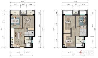 万科星都荟!LOFT公寓!55平4房2厅2卫!双地铁!配套齐全!