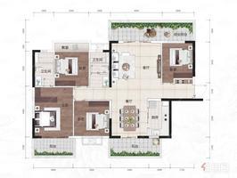 五象澜庭府建面95-125㎡户型在售 为3-4房