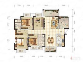 交投地产阳光100阿尔勒 69万 3室2厅2卫 普通装修你可以拥有,理想的家!