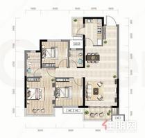 高档小区!万科金域国际 93万 3室2厅2卫 精装修,性价比超高!
