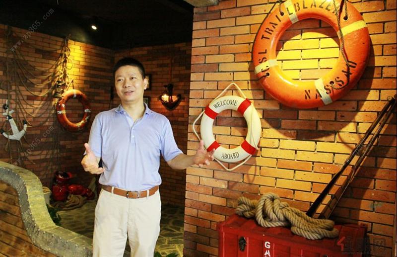 """霸气总裁莫汉军带你体验广西首家房产""""空中航海体验馆"""""""