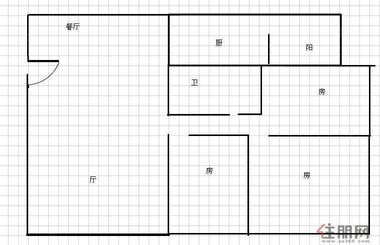 电梯3房,94万,精装,花园小区 香樟林