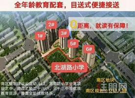北湖芯中心毛坯学区房3房首付16万