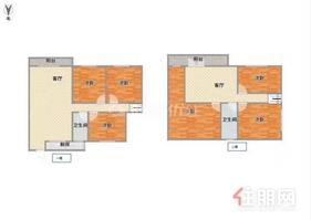 白鹭210平楼中楼、精装拎包入住、天桃双