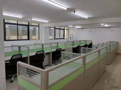 白沙大道-出租天元国际300平米精装办公室(含办公卡位和空调,楼中楼)