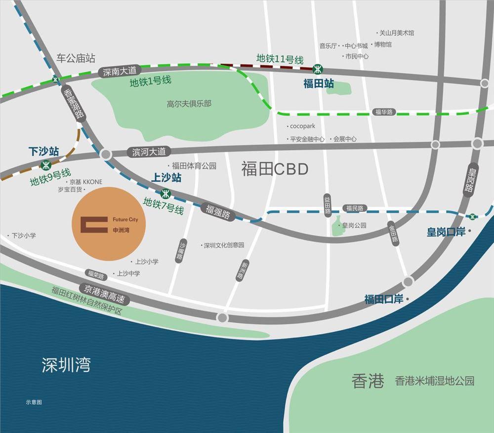 中洲湾公寓东南向,南北通