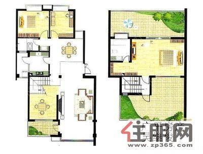 7米宽房屋楼中楼设计图