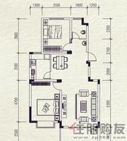 麓山里F型2室2厅1卫91.86㎡