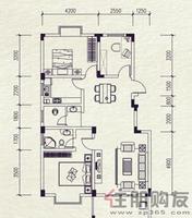 麓山里J-1型2室2厅2卫106.00㎡