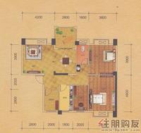 八桂绿城云顶印象E4户型(6#楼一层)3室2厅1卫112.75�O