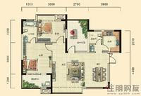 湘府十城C2户型2室2厅2卫98.53㎡