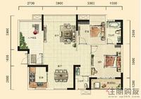 湘府十城C3户型2室2厅2卫94.69㎡