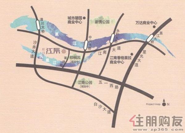 红日·江景交通图