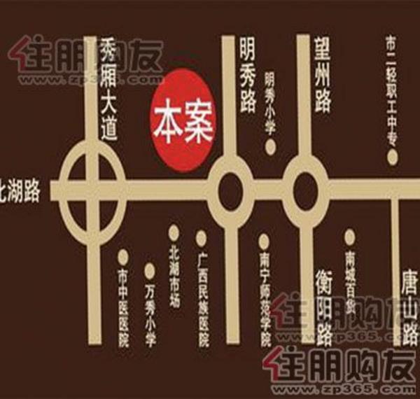 隆源国际公馆 交通图