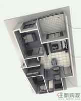 骋望怡�Z湾骋望怡�Z湾C栋2单元02房户型图3室2厅2卫92.00�O