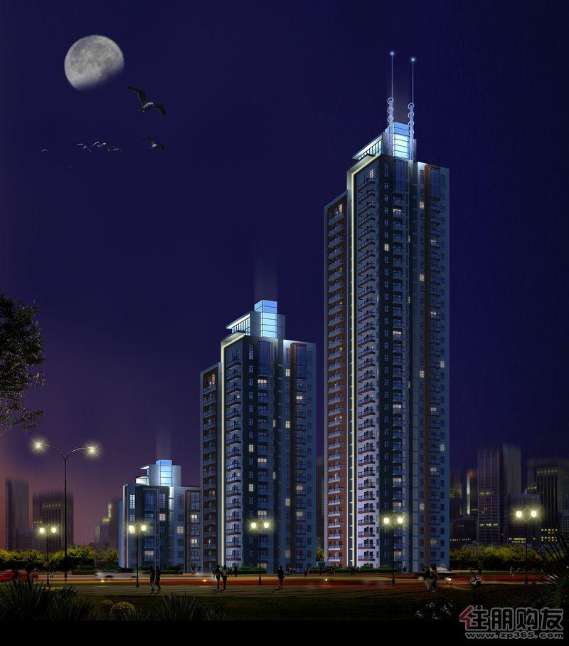 宝莲大厦 夜景图