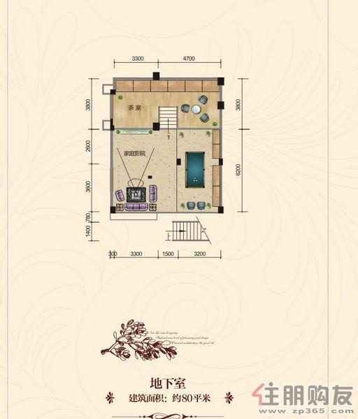中房御翠园B户型地下室0室0厅0卫80.00�O