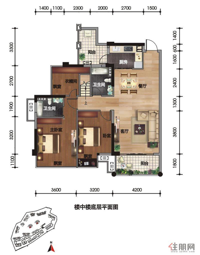 楼中楼设计平面图楼中楼楼梯平面图楼中楼别墅平面图