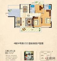 11月17日魅力首座C2三房两厅户型