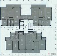1#楼层面图