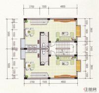汉林·名仕园O户型3层平面图
