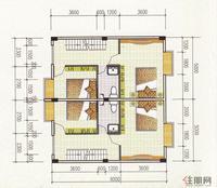 汉林·名仕园O户型4层平面图