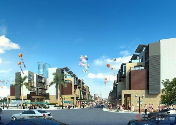容州商业城一期商业街街景