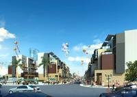 容州商业城效果图|容州商业城一期商业街街景
