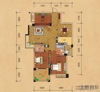 八桂绿城云顶印象D2/E2户型3室2厅2卫122.20�O