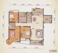 锦誉蓝湾H户型图(3#/6#楼)