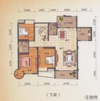 锦誉蓝湾H1户型下层(3#/6#楼复式)