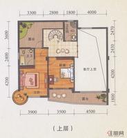 锦誉蓝湾H1户型上层(3#/6#楼复式)