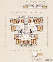 展华·世纪城1#、4#B单元型图