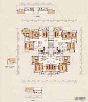 展华·世纪城1#、4#A单元型图