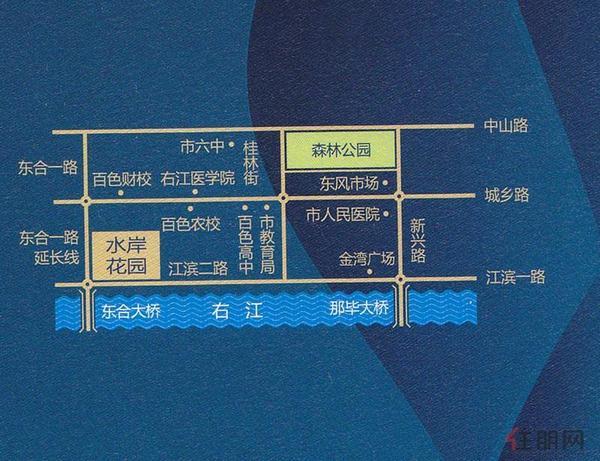 中恒·水岸花园交通图