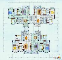 A4栋2-11层户型图