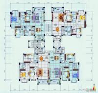 A2栋2-11层户型图