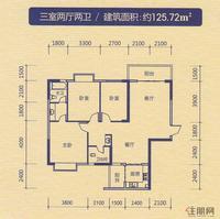 中恒·水岸花园三室两厅两卫